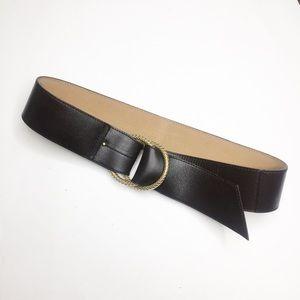 Ann Taylor Dark Brown Wide Leather Belt